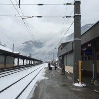 Photo taken at Bahnhof Bad Hofgastein by Ksenja O. on 1/3/2016