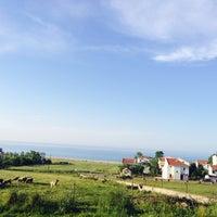 Photo taken at Karaburun Sahili by Tarık K. on 5/26/2014