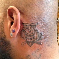 Photo taken at NoKaOi Tiki Tattoo and Piercing by Ray S. on 8/12/2013
