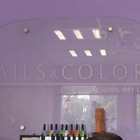 Photo taken at nails & colors by Giovanella H. on 8/22/2013