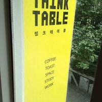 Photo taken at 띵크테이블 / Think Table by 임협 김. on 7/30/2013