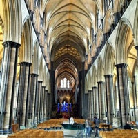 Photo taken at Salisbury Cathedral by Kaz Y. on 3/26/2013