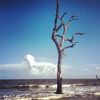 Photo taken at Hunting Island Beach by Donnie P. on 8/21/2013