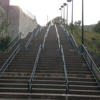 Photo taken at Mile One Stairs by Jeff K. on 7/15/2013