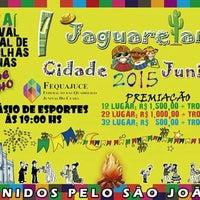 Photo taken at Ginasio de Esportes de Jaguaretama by Márcia Jussara (. on 7/10/2015