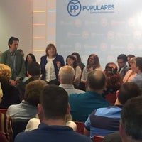 Photo taken at Partido Popular Ctat. Valenciana by Pablo J. Carreres G. on 5/7/2016