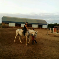 Photo taken at Lara Horse Clup Arena by Eylem D. on 10/8/2016