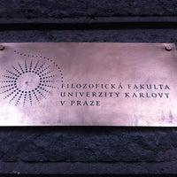 Photo taken at Filozofická fakulta UK by Mario V. on 6/17/2013