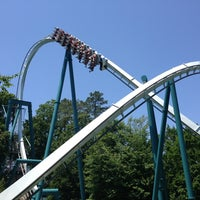 Photo taken at Alpengeist - Busch Gardens by DeMon 8. on 5/29/2013