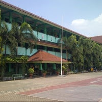 Photo taken at SMAN 71 Jakarta by Andika on 6/7/2014