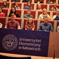 Photo taken at Uniwersytet Ekonomiczny W Katowicach by Karina M. on 9/26/2015