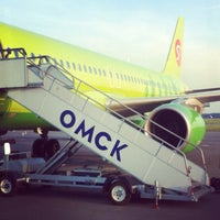 Photo taken at Omsk Central International Airport (OMS) by Alexander P. on 6/21/2013