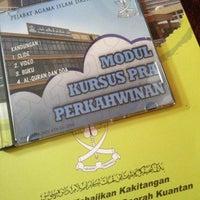 Photo taken at Pejabat Agama Islam Daerah Kuantan by Aina N. on 8/13/2016