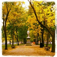 Photo taken at Commonwealth Avenue Mall by Jennifer C. on 10/19/2012