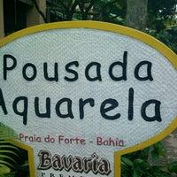 Photo taken at Pousada Aquarela by Sayonara O. on 4/27/2014