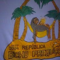 Photo taken at República Bicho Preguiça by Maurício J. on 9/29/2013