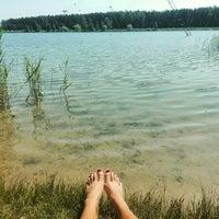 Photo taken at Ozolnieku ezers (Ozolnieki Lake) by Baiba D. on 5/29/2016