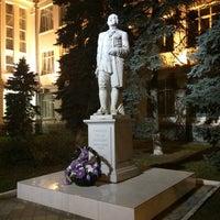 Photo taken at Памятник Ломоносову by Larisa M. on 11/26/2014