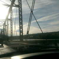 Photo taken at New Hope-Lambertville Toll Supported Bridge by James D. on 6/15/2016