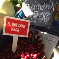 Photo taken at Quiosco de Verduras by Cristhian J. on 1/24/2014