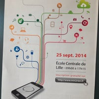 Photo taken at Ecole Centrale De Lille by Thierry P. on 9/25/2014
