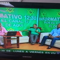 Photo taken at Informativo 12.30,  Canal 12 by Abraham G. on 2/11/2014