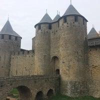 Photo taken at Château Comtal de la Cité de Carcassonne by Mario B. on 11/18/2016