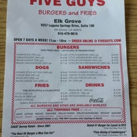 Photo taken at Five Guys by Ray F. on 2/13/2014