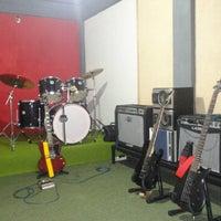 Photo taken at Up down music studio by Rangga T. on 9/16/2014