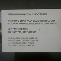 Photo taken at Penang Badminton Academy by Kaho F. on 9/11/2014
