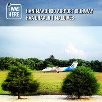 Photo taken at Hanimaadhoo Airport Runway by Ahmed A. on 12/22/2012