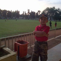 Photo taken at Stadion labda prakasa nirwakara by Teguh P. on 6/23/2013