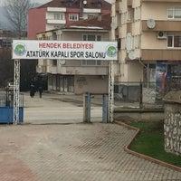 Photo taken at Hendek Atatürk Stadyumu by Enes İ. on 1/27/2018