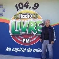 Photo taken at Estúdio Rádio Livre FM by Paulo G. on 5/31/2013