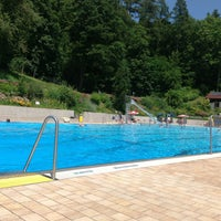 Photo taken at Waldfreibad Dinkelscherben by Günther B. on 7/16/2013