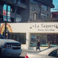 Photo taken at La Taqueria Pinche Taco Shop by Orlando P. on 2/15/2013