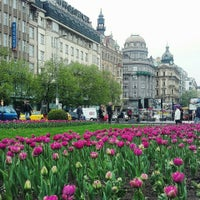 Photo taken at Wenceslas Square by Nadi♡ P. on 4/15/2016