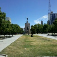 Photo taken at Plaza Rivadavia by Andrea on 2/17/2013