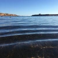 Photo taken at Terrazzina Beach by Ali K. on 1/7/2018