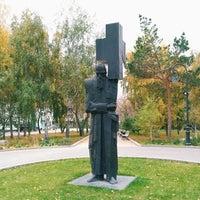 Photo taken at Памятник Ф.М. Достоевскому «Крест несущий» by Даша on 10/7/2018