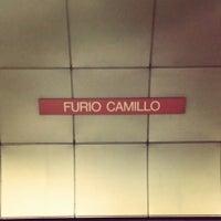 Photo taken at Metro Furio Camillo (MA) by Antonio M. on 9/14/2014