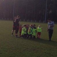 Photo taken at Voetbal K Hechtel FC by Annemie L. on 4/2/2014