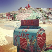 Photo taken at Salvation Mountain by Katsuaki T. on 6/10/2013