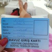 Photo taken at Yeditepe Üniversitesi Acik Havuz by Ecem on 8/17/2015
