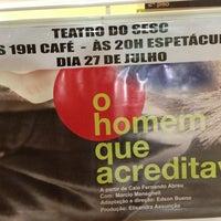 Photo taken at SESC Eventos by Guilherme U. on 7/27/2013