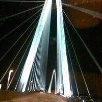 Photo taken at Stan Musial Veterans Memorial Bridge by Amanda M. on 2/19/2014