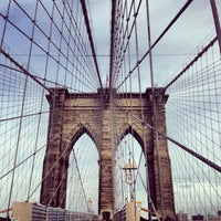 Photo taken at Brooklyn Bridge by Brandon O. on 5/23/2013