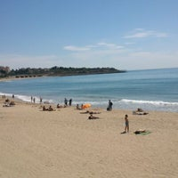 Photo taken at Platja del Miracle by Ginger on 6/2/2013