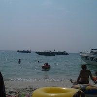 Photo taken at Sai Kaew Beach by Alexandr V. on 1/6/2014