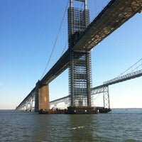 Photo taken at Chesapeake Bay Bridge by Alan P. on 11/9/2012